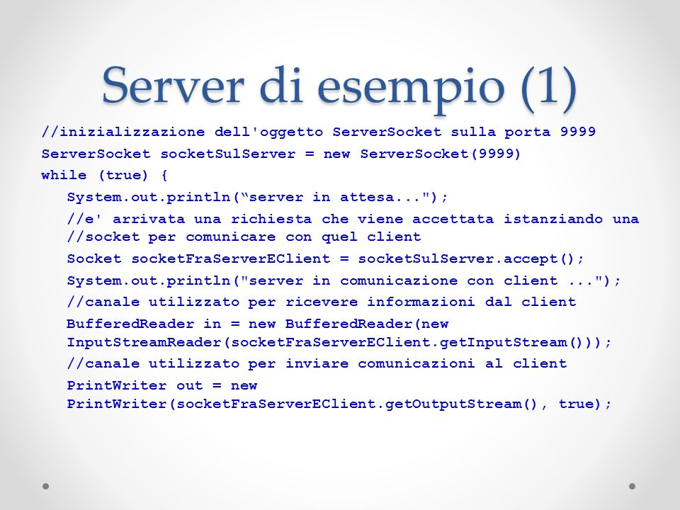 Server di esempio (1)