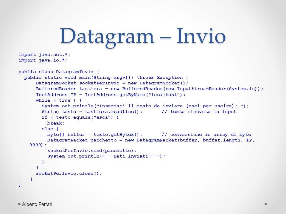 Datagram – Invio