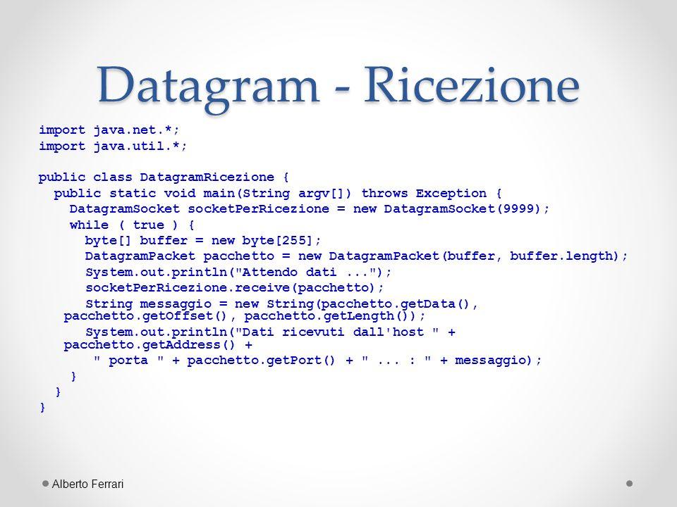 Datagram - Ricezione