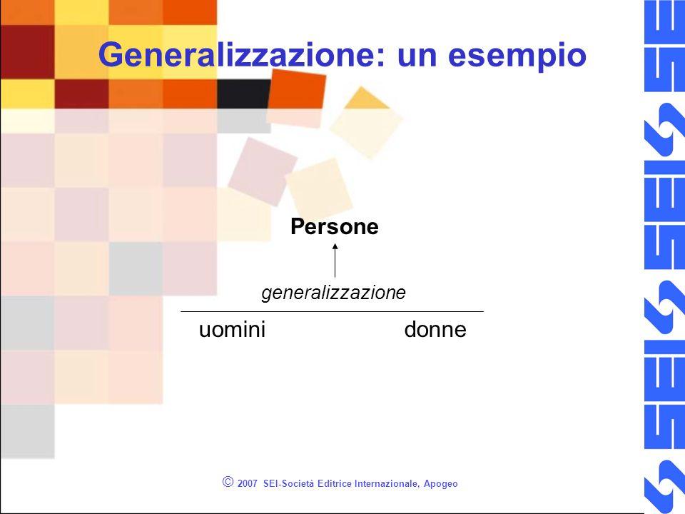 Generalizzazione: un esempio