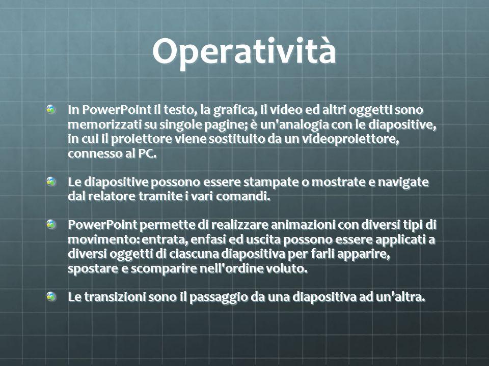 Operatività