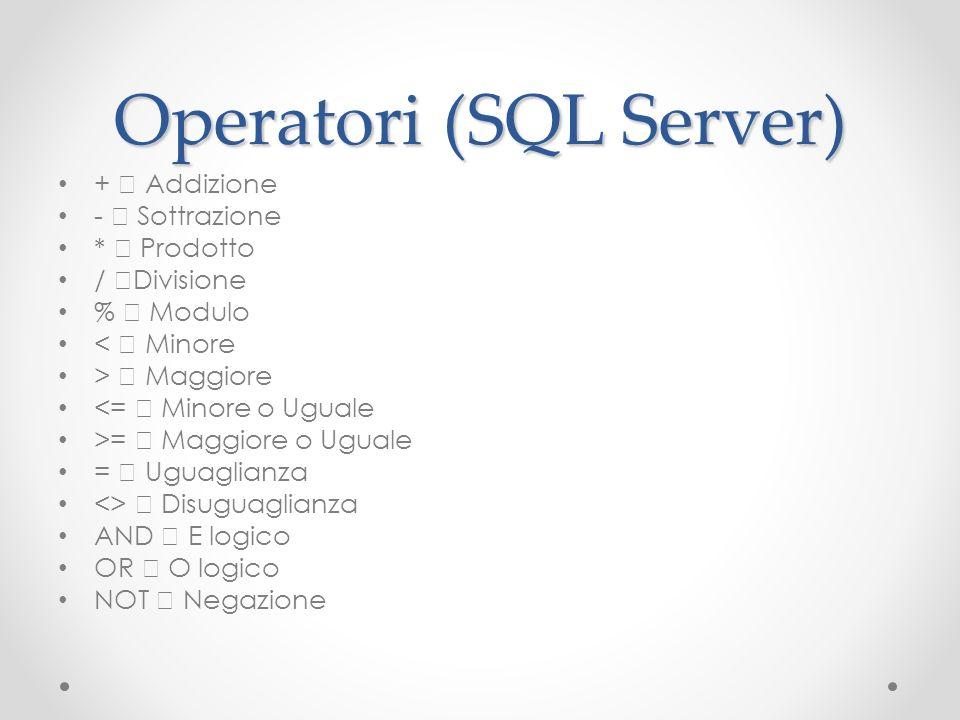 Operatori (SQL Server)