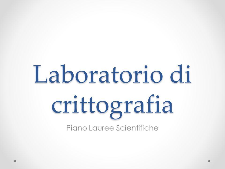 Laboratorio di crittografia