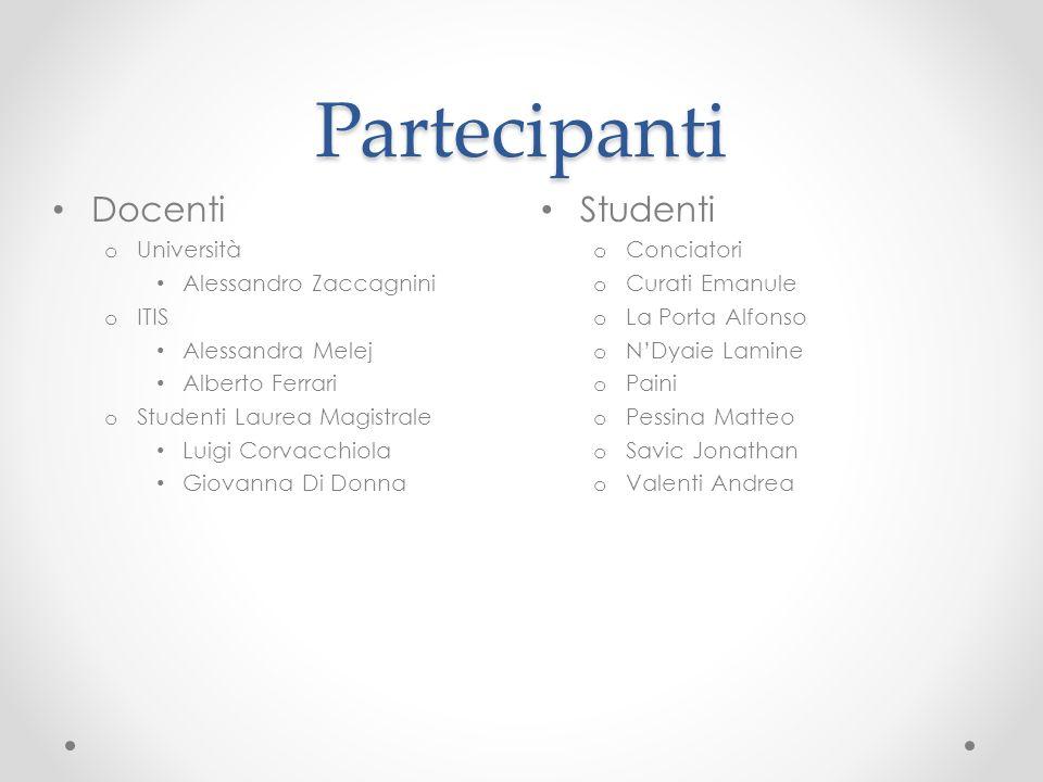 Partecipanti Docenti Studenti Università Alessandro Zaccagnini ITIS