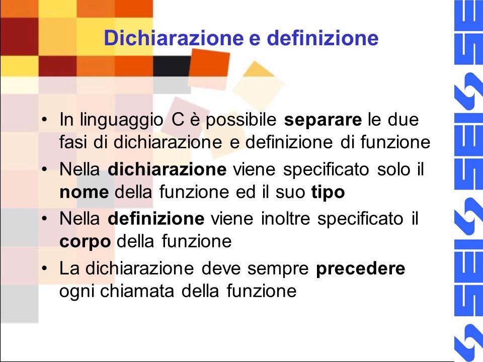 Dichiarazione e definizione