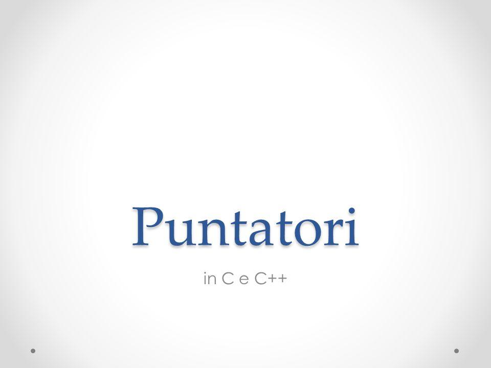 Puntatori in C e C++