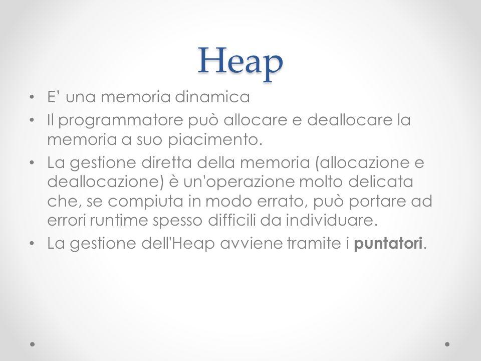 Heap E' una memoria dinamica