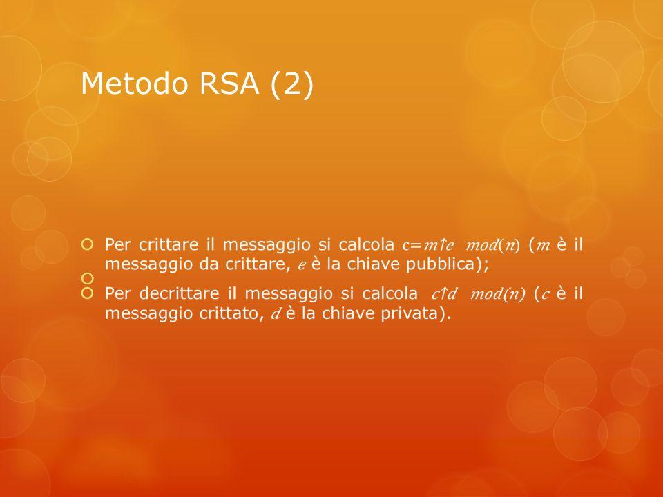 Metodo RSA (2)