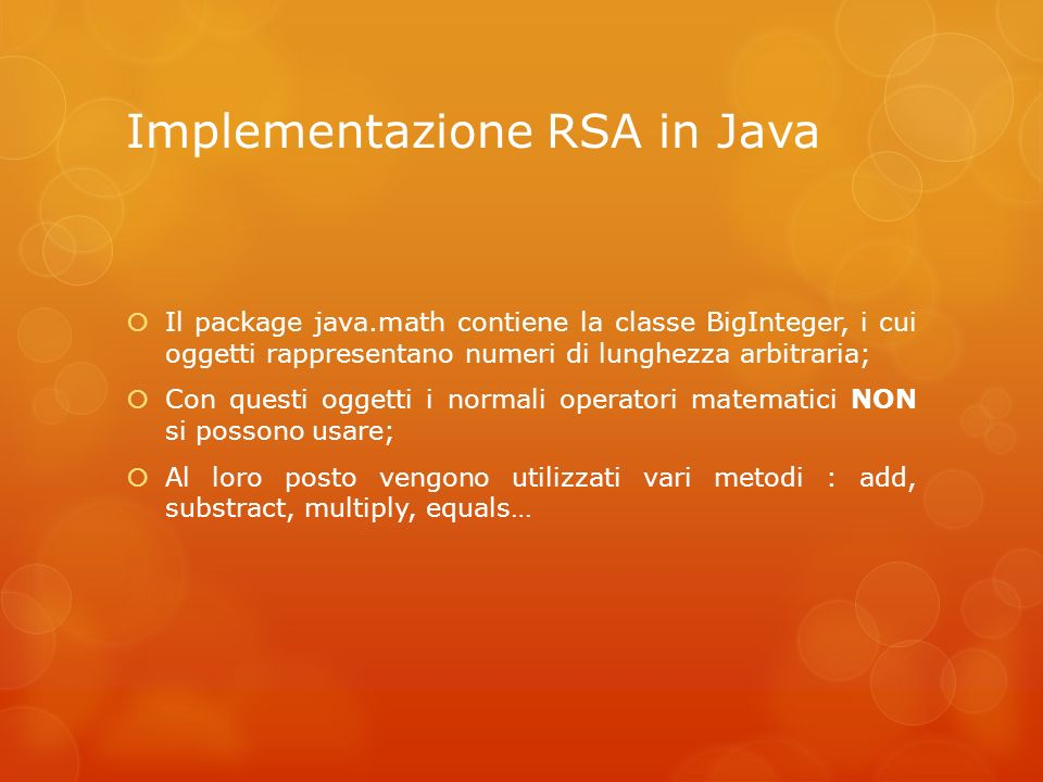 Implementazione RSA in Java