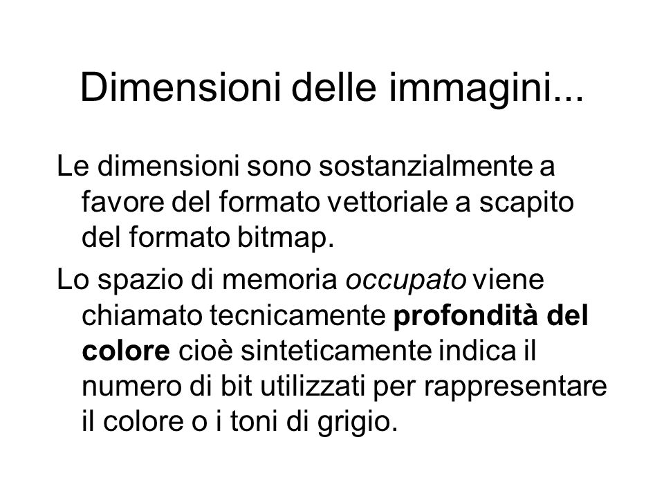 Dimensioni delle immagini...