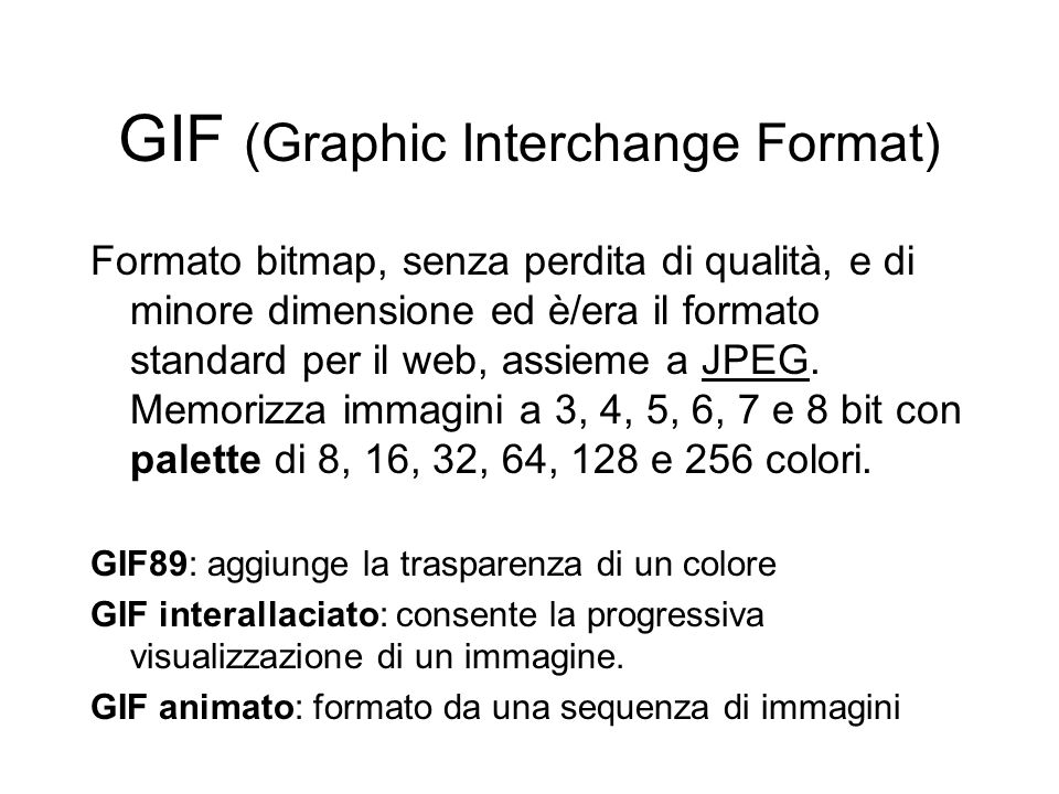 GIF (Graphic Interchange Format)