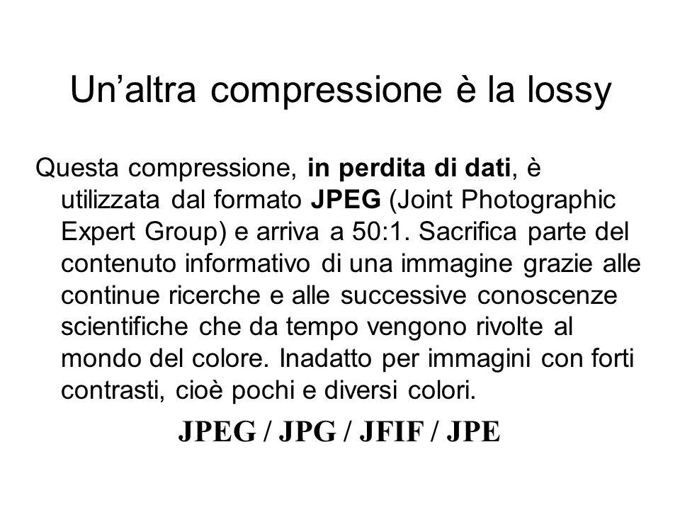 Un'altra compressione è la lossy