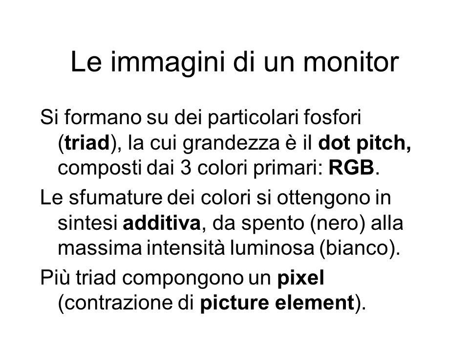Le immagini di un monitor