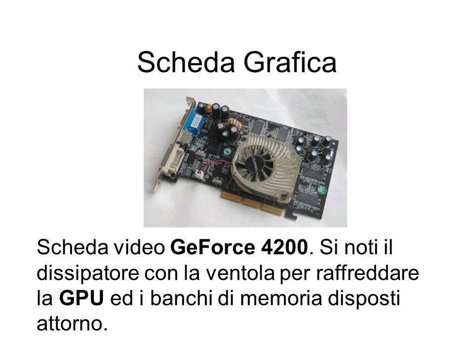 Scheda Grafica Scheda video GeForce 4200.
