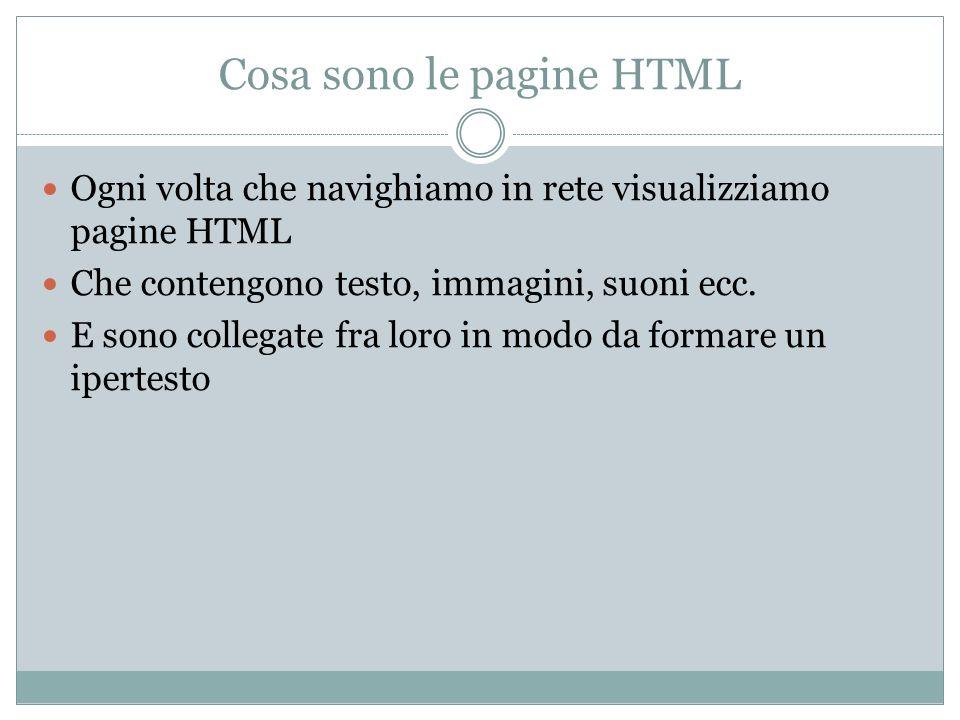 Cosa sono le pagine HTML