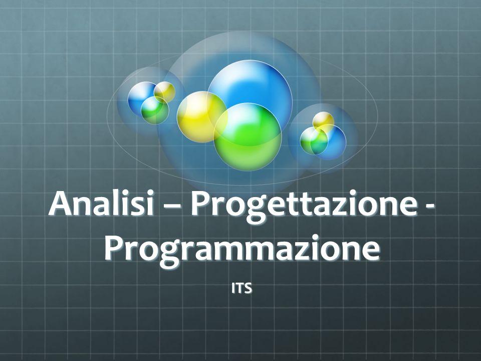 Analisi – Progettazione - Programmazione