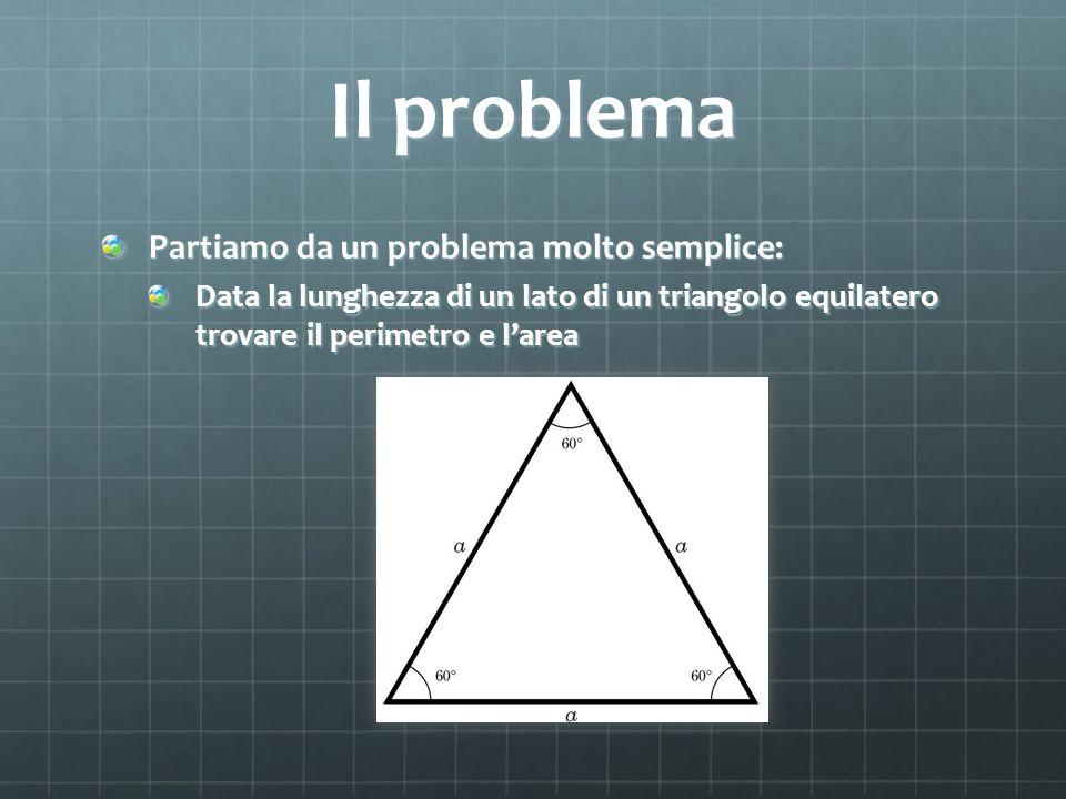 Il problema Partiamo da un problema molto semplice: