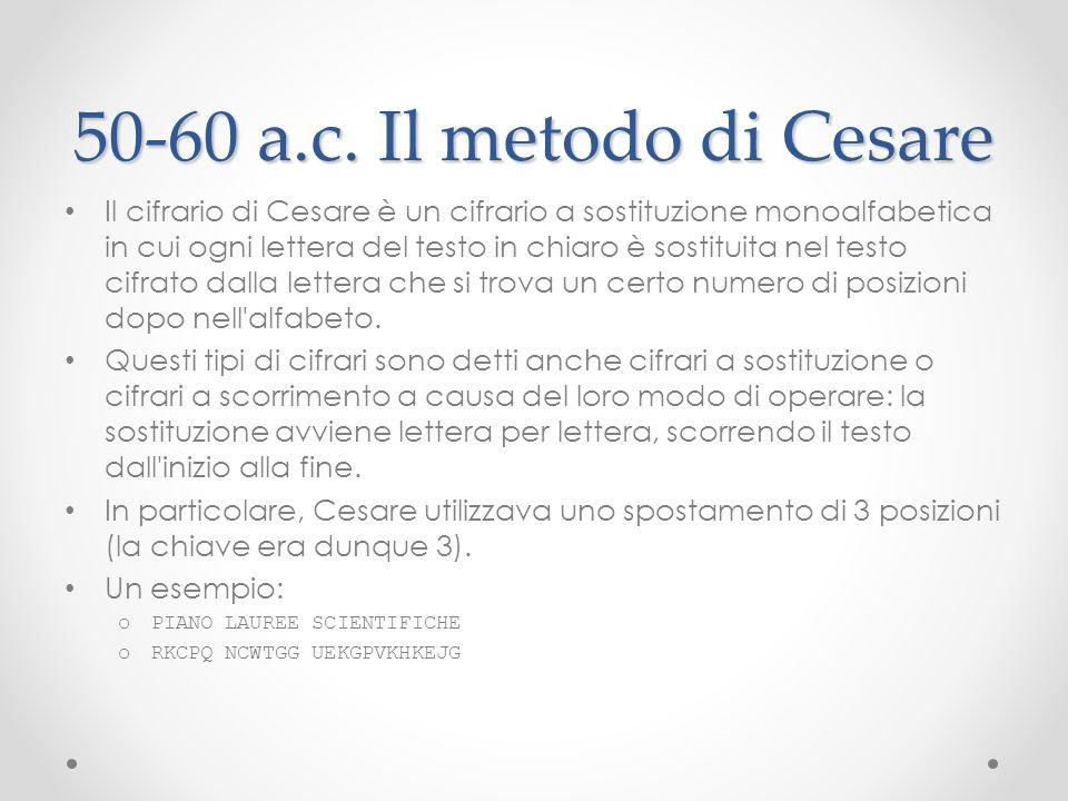 50-60 a.c. Il metodo di Cesare