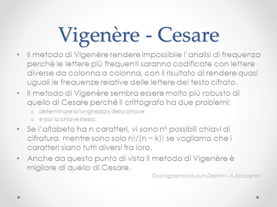 Vigenère - Cesare