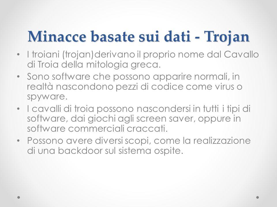 Minacce basate sui dati - Trojan
