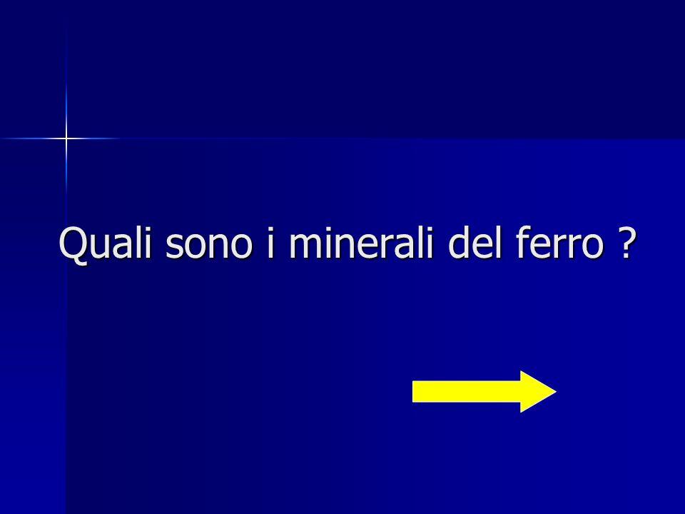 Quali sono i minerali del ferro