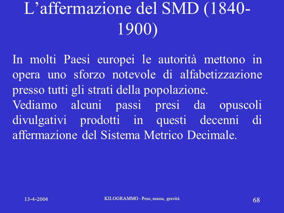 L'affermazione del SMD (1840-1900)