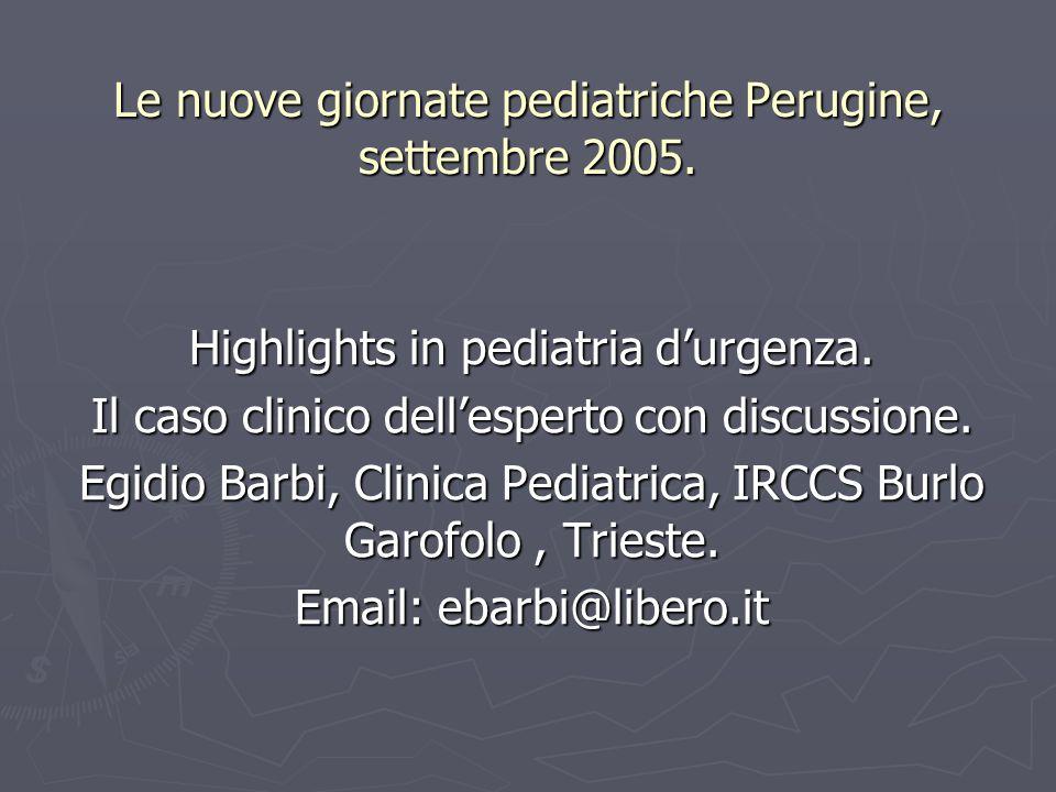 Le nuove giornate pediatriche Perugine, settembre 2005.