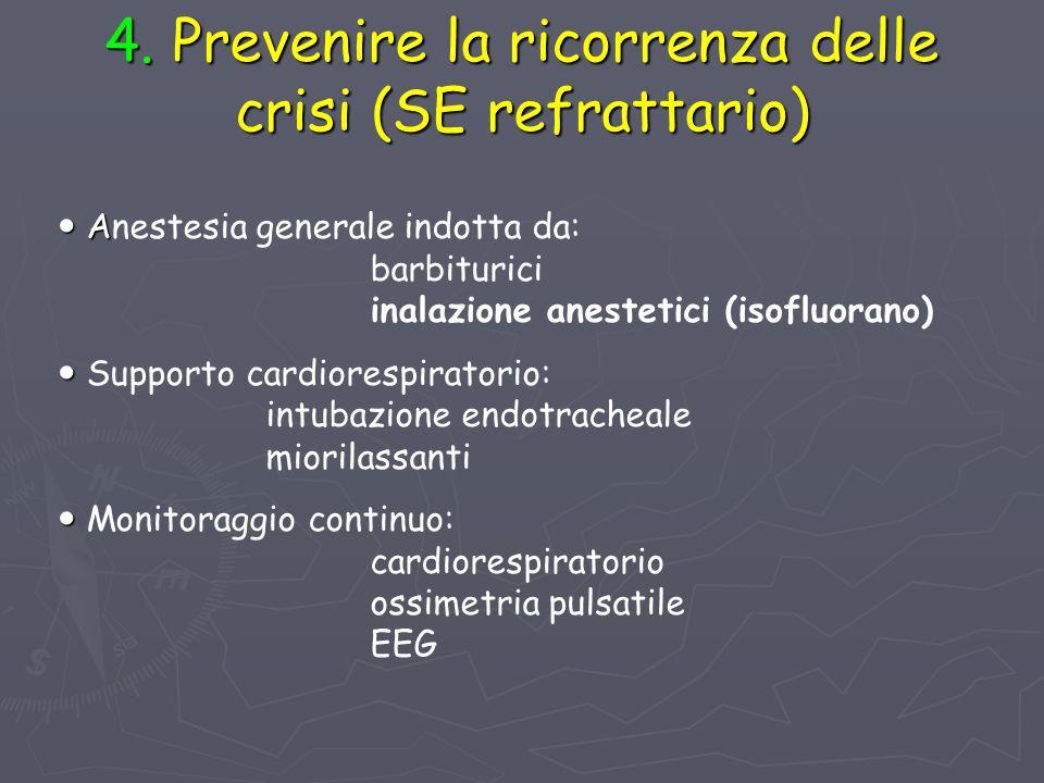 4. Prevenire la ricorrenza delle crisi (SE refrattario)