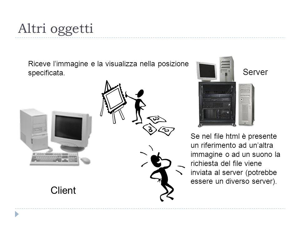 Altri oggetti Client Server