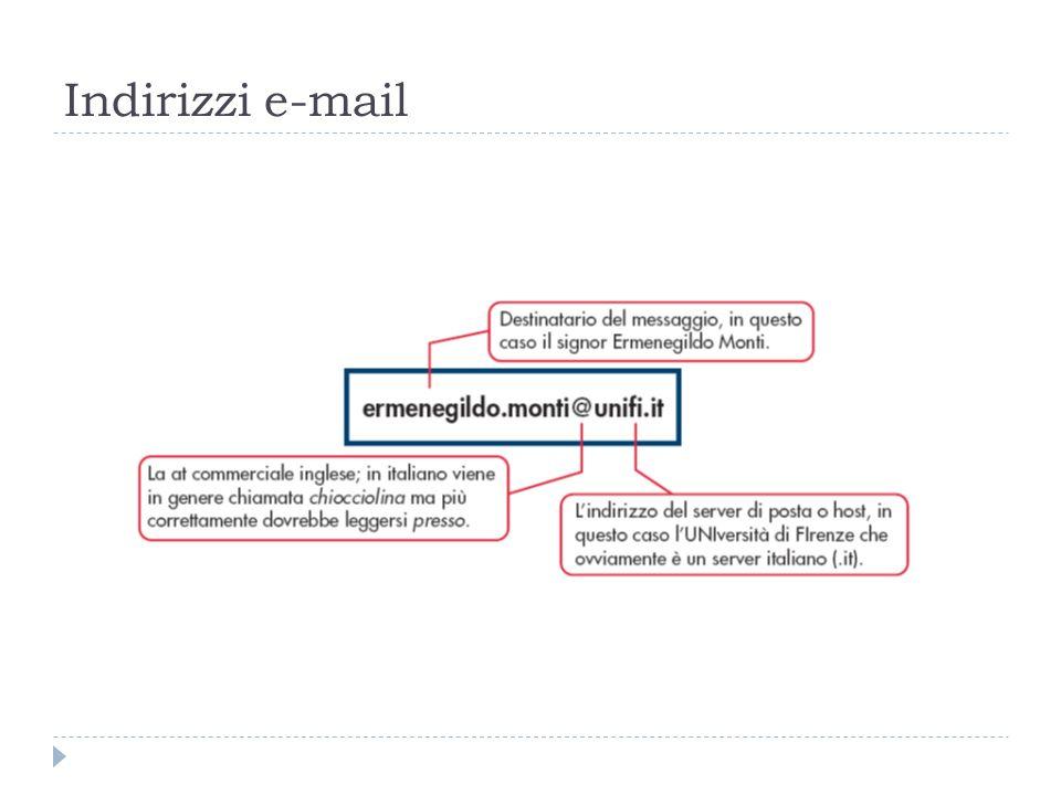 Indirizzi e-mail