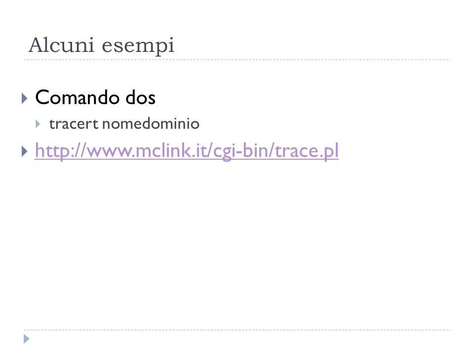 Alcuni esempi Comando dos http://www.mclink.it/cgi-bin/trace.pl