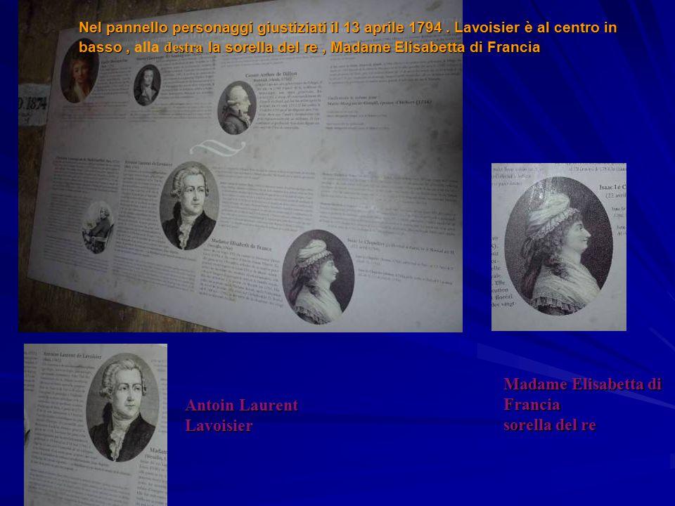 Madame Elisabetta di Francia sorella del re Antoin Laurent Lavoisier