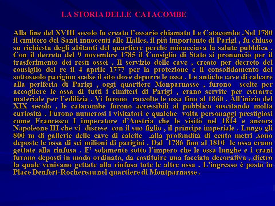LA STORIA DELLE CATACOMBE
