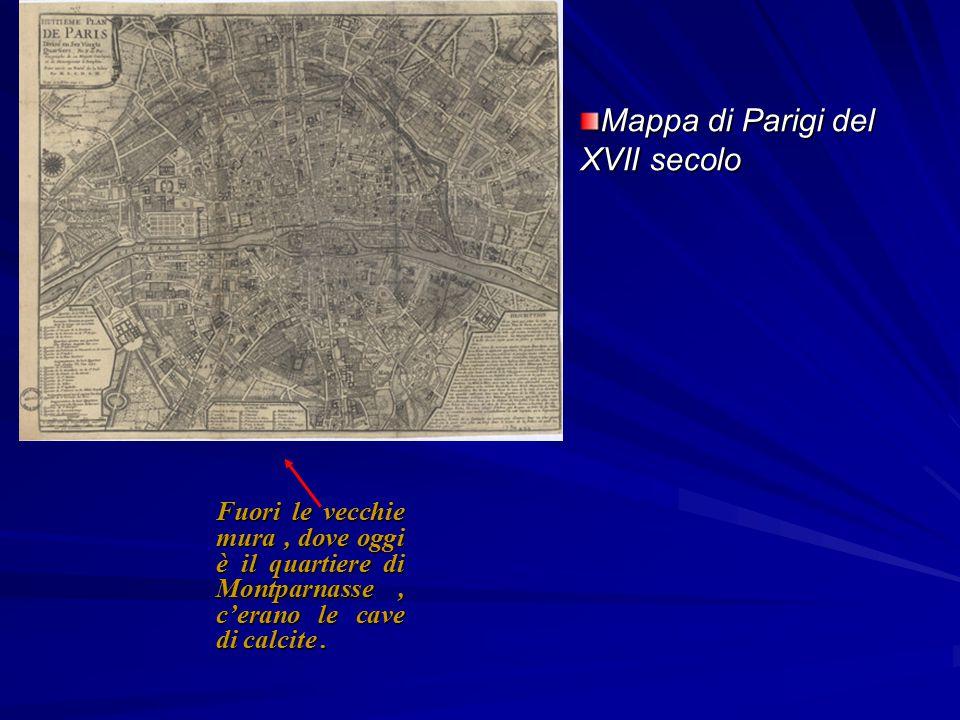 Mappa di Parigi del XVII secolo