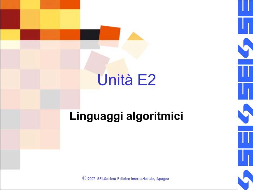 Linguaggi algoritmici