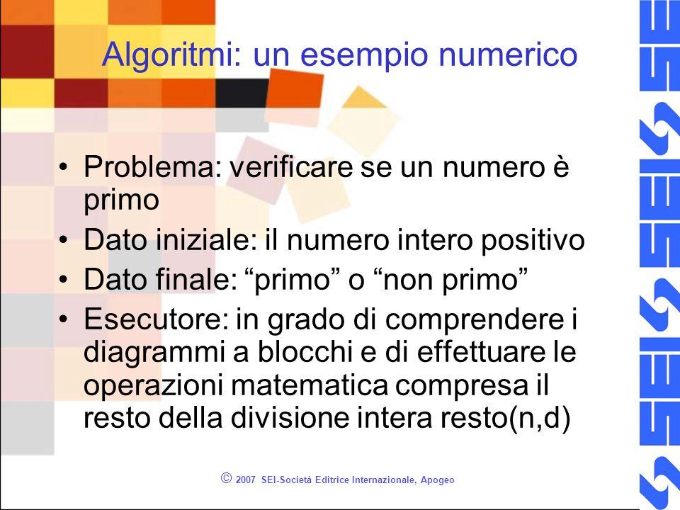 Algoritmi: un esempio numerico
