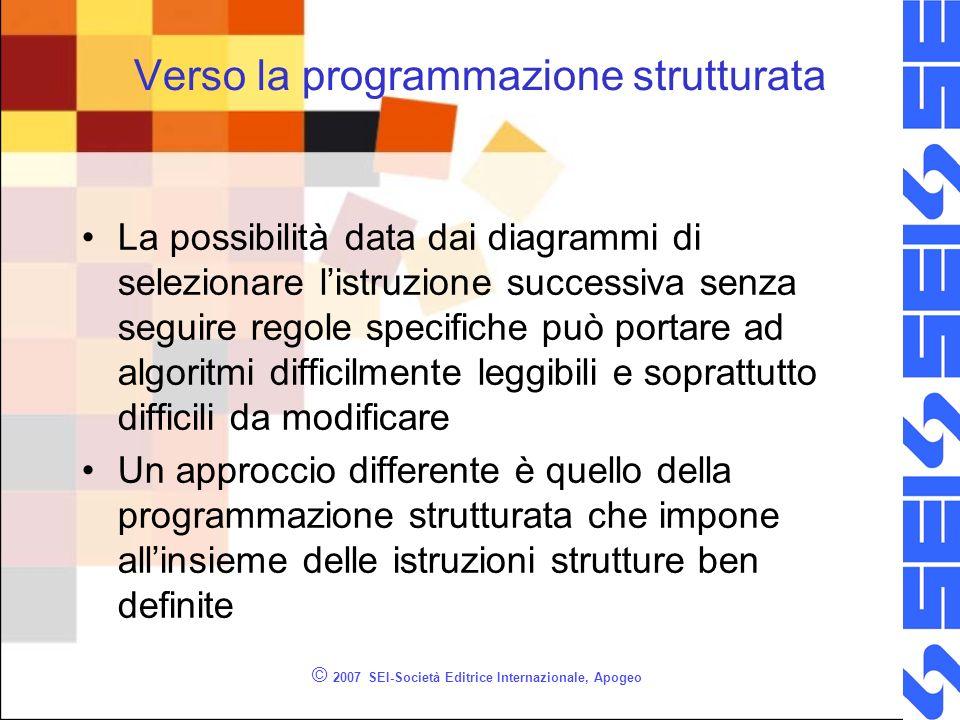 Verso la programmazione strutturata