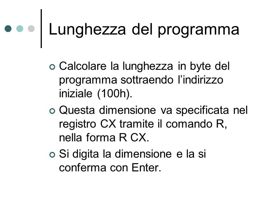 Lunghezza del programma
