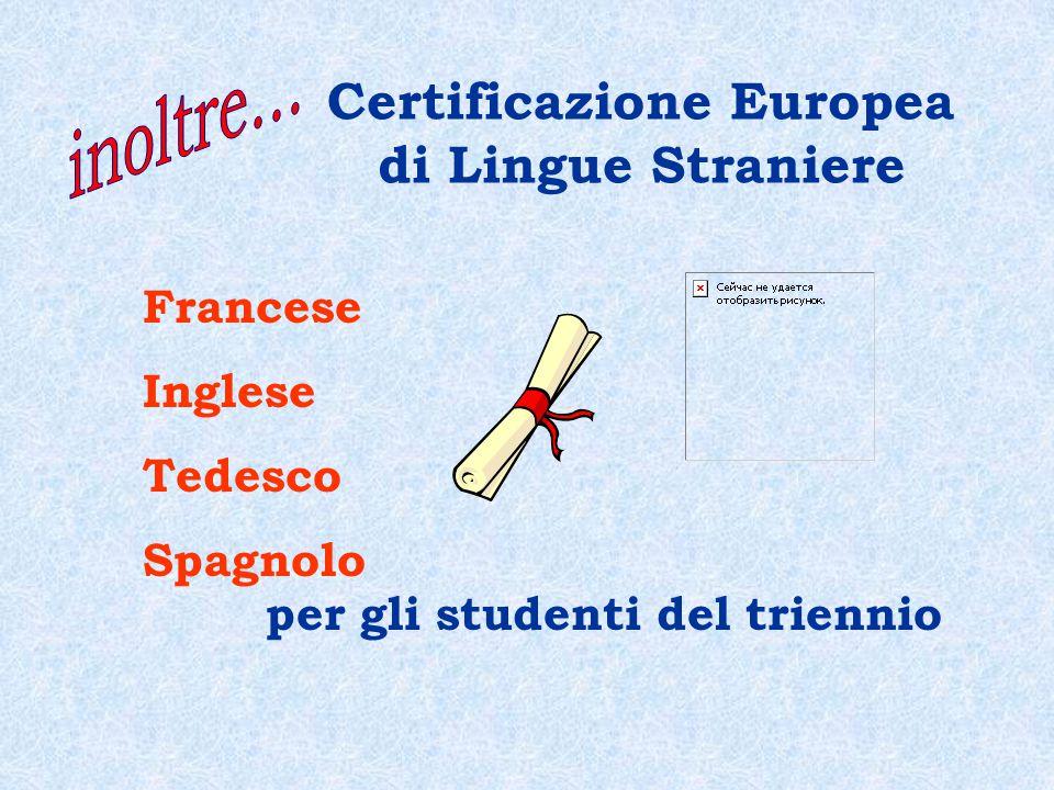 Certificazione Europea di Lingue Straniere