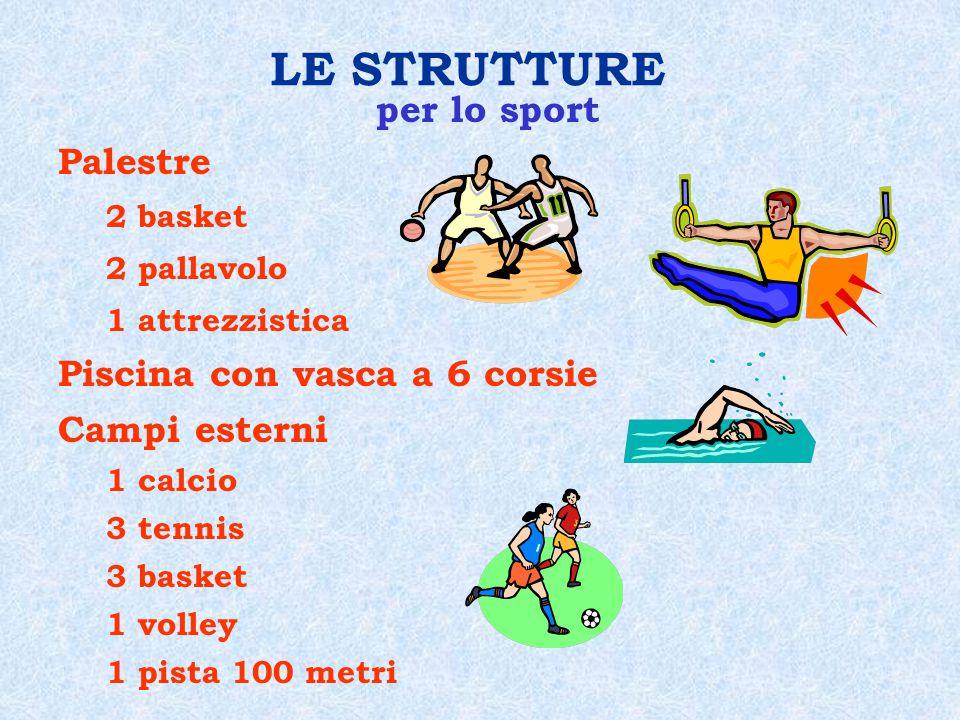 LE STRUTTURE per lo sport Palestre Piscina con vasca a 6 corsie