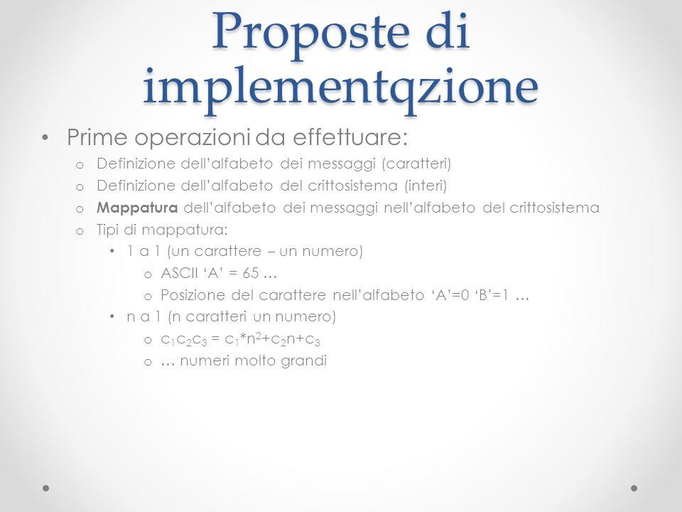Proposte di implementqzione