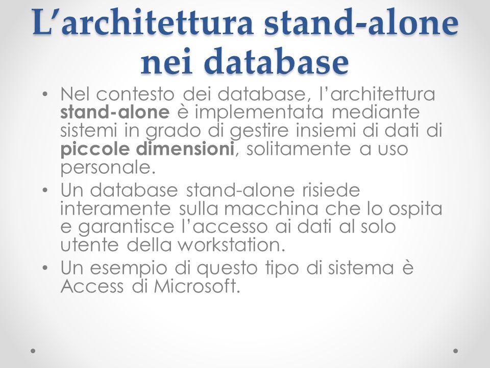 L'architettura stand-alone nei database