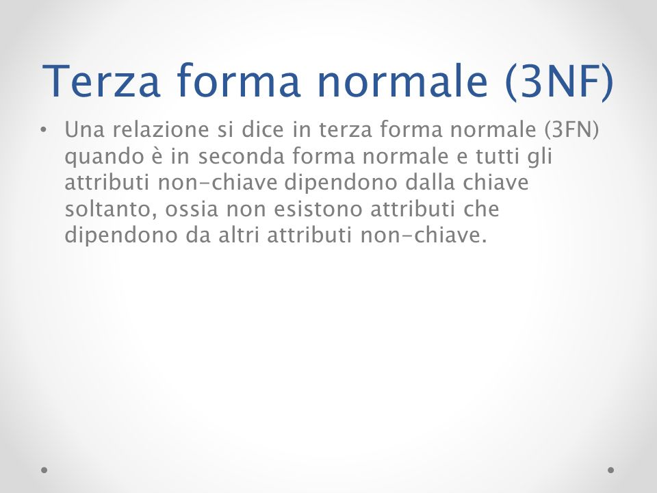Terza forma normale (3NF)