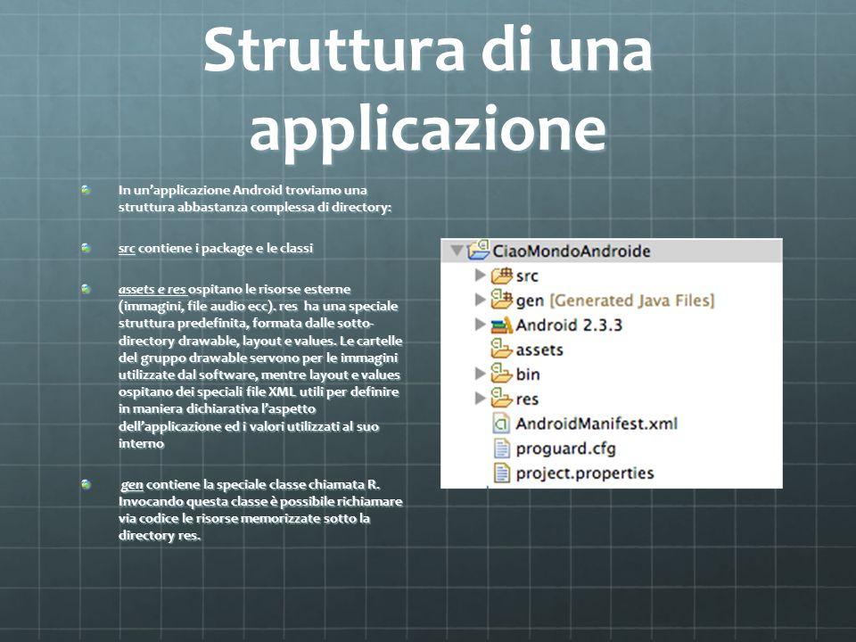 Struttura di una applicazione