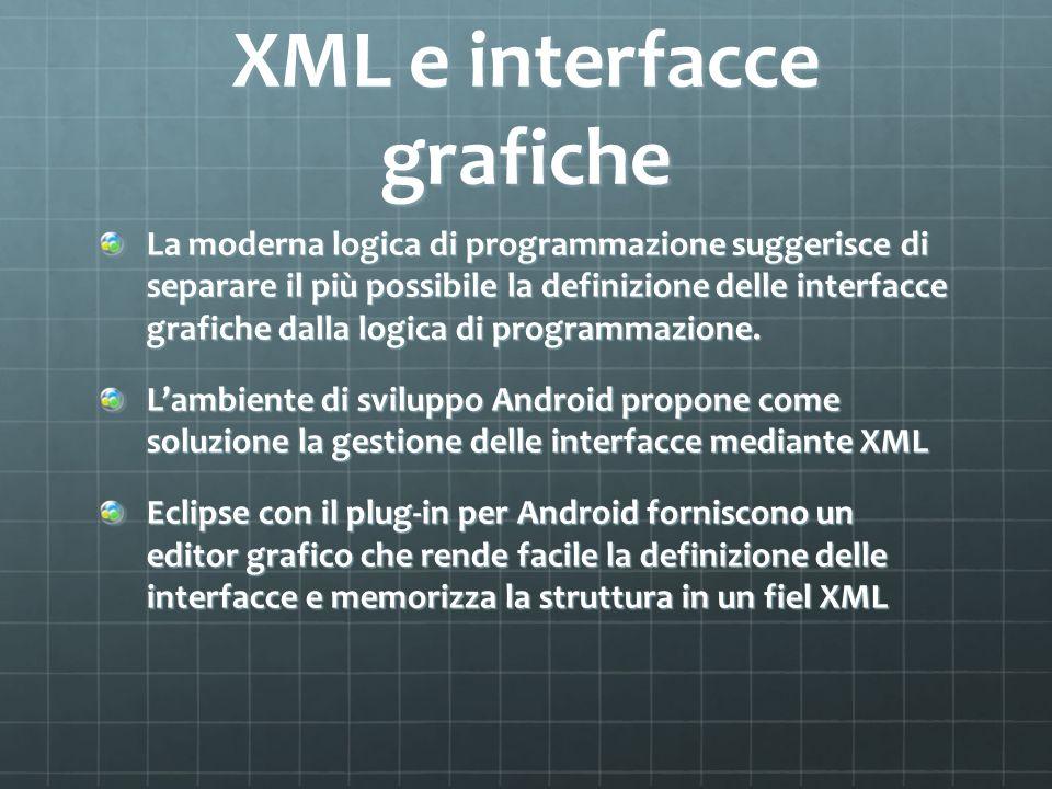 XML e interfacce grafiche