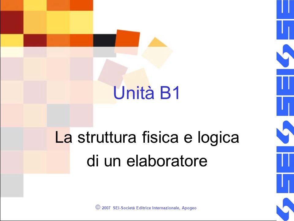 La struttura fisica e logica di un elaboratore