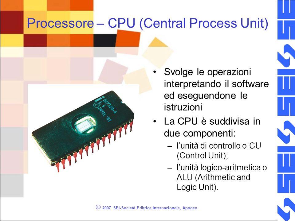 Processore – CPU (Central Process Unit)