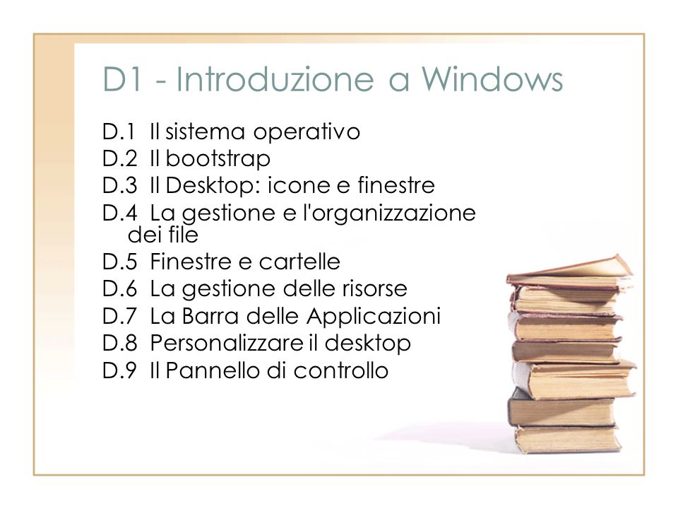 D1 - Introduzione a Windows