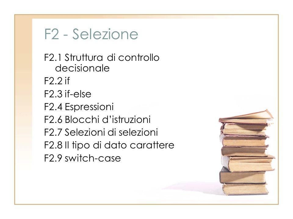 F2 - Selezione
