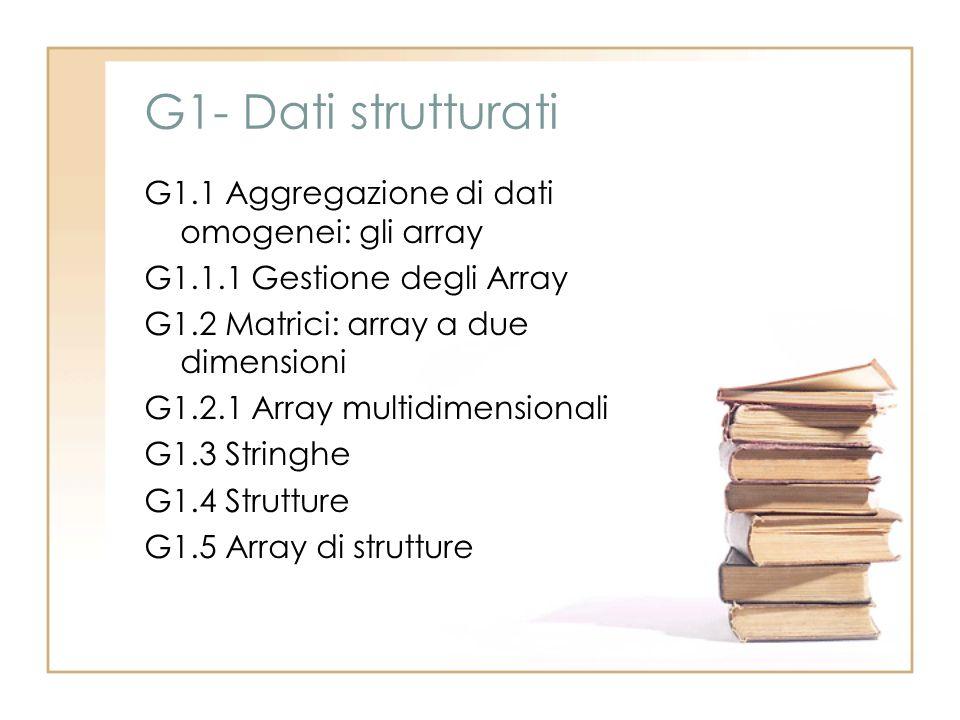 G1- Dati strutturati